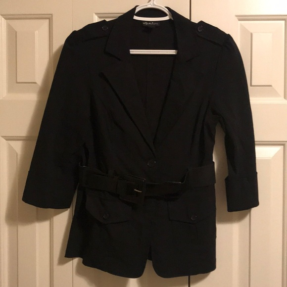 Deductions large blazer with belt